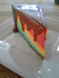 Rainbow cheesecake!