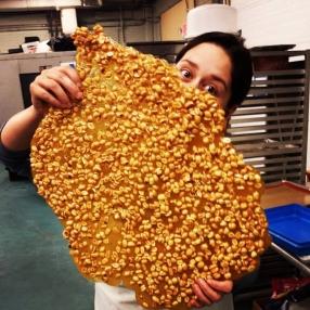A sheet of peanut brittle