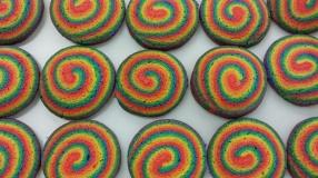 Rainbow Pinwheels